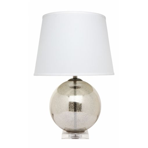 BOCCE TABLE LAMP - ANTIQUE SILVER