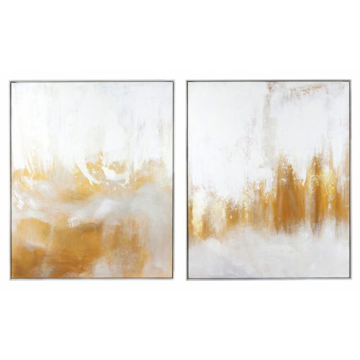 GOLD LUSTRE WALL ART - SET OF 2