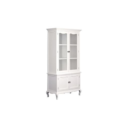 Mervent Solid Mahogany Timber Provincial Cupboard - White