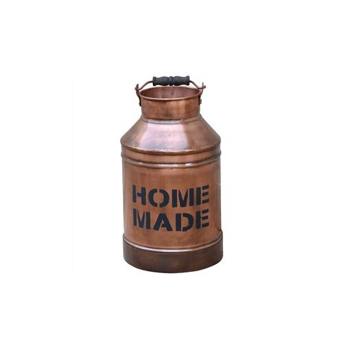 """Home Made"" Industrial Metal Milk Pail"