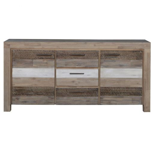 Peninsula Acacia Timber 2 Door 3 Drawer Buffet Table, 165cm