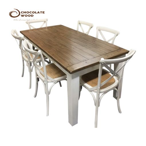 Cheap SALE  Dining Table & White Chairs