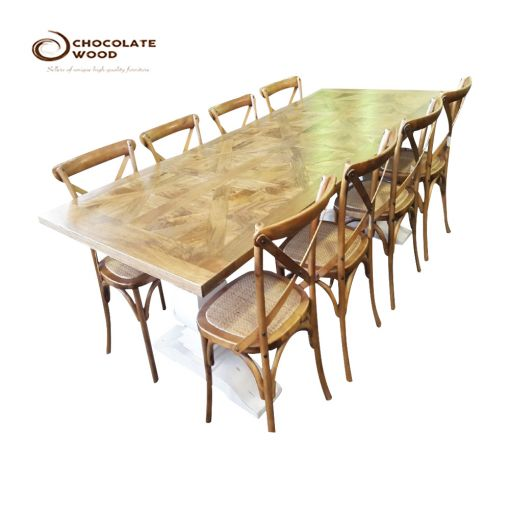 Cheap Online Natural 9 Piece Dining Package