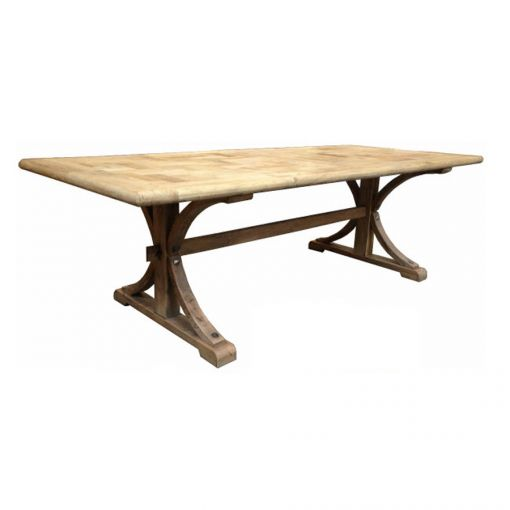 Brussels Dining Table Rectangle – Natural Top & Base – 2 Sizes