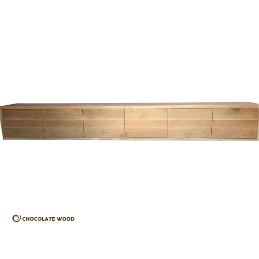 MADE TO ORDER  Australian Made American Oak 6 Door Wall mountable TV Unit