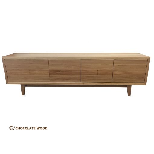 MADE TO ORDER  Emerald Australian Made Blackbutt Hardwood Timber Tv Entertainment Unit