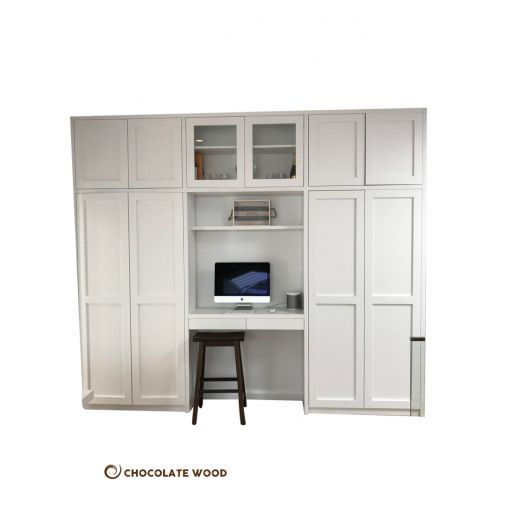 MADE TO ORDER  Juno Australian Made White Painted 4 Pieces Study Nook