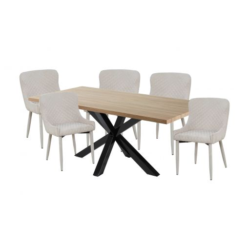 Cheap ALLONZO DINING SET - TABLE + 6 dining CHAIRS