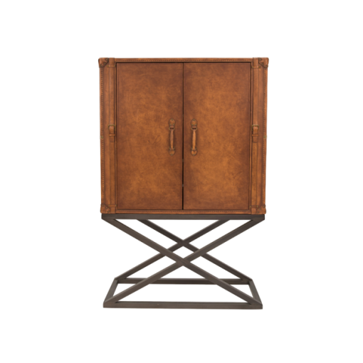 Carter Cocktail Cabinet in Aged Leather
