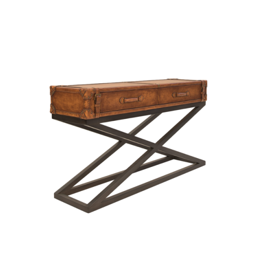Carter Console in Aged Leather