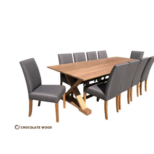 MADE TO ORDER   Monterrey Australian Made Solid Vic Ash 11 Pieces Dining Set