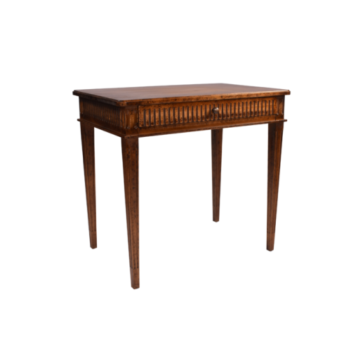 Fluted Table with Drawer