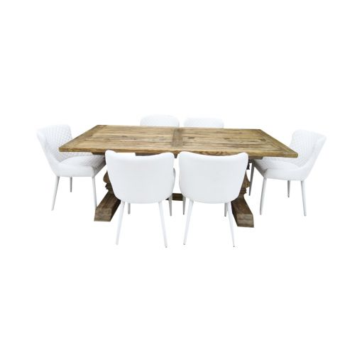Amazing Dining  table with 6 white chairs