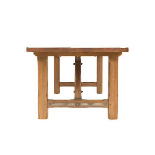 Iron Bridge Dining Table with Copper Top