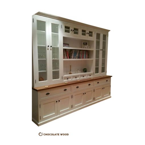 MADE TO ORDER  BERTRAM WHITE PAINTED LIBRARY WALL UNIT KITCHEN DRESSER BOOKCASE BOOKSHELF