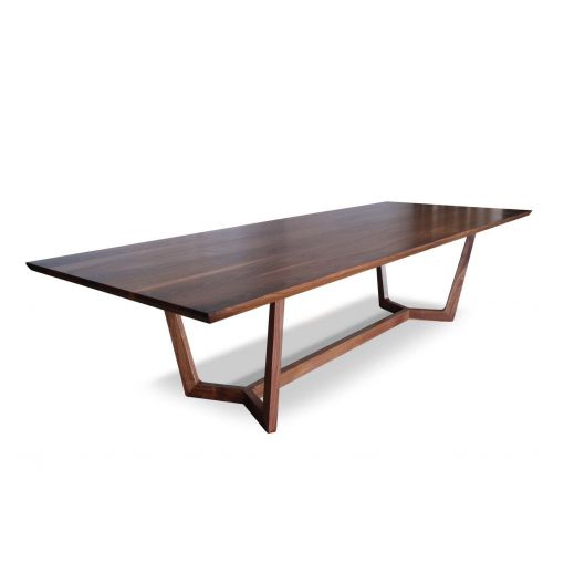 CUSTOM  MADE   LOUIE SOLID AMERICAN BLACK WALNUT DINING TABLE
