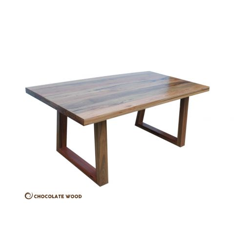 MADE TO ORDER  Plato Australian made solid spotted Gum dining table 210cm