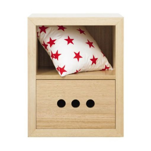 SOLID OAK  Billy Bedside Table