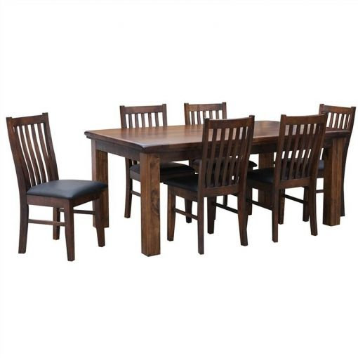 California Solid Pine Timber 210cm Dining Table (Table Only)