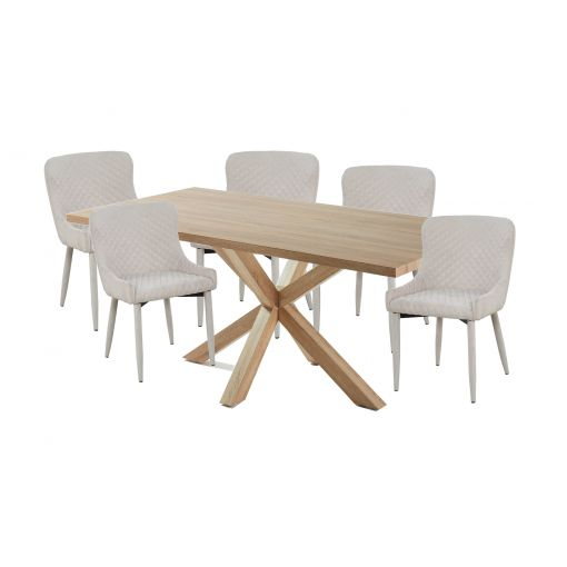 Cheap Online  NATURAL TABLE + 6 dining CHAIRS