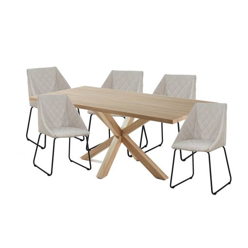 Cheap Online MESSI DINING SET - NATURAL TABLE