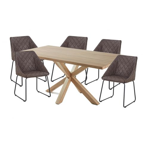 Cheap Online  NATURAL TABLE +6 chairs