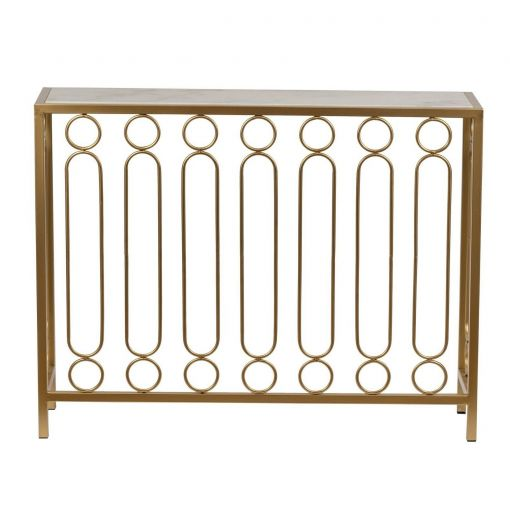 DIANNA RING BAR MARBLE CONSOLE TABLE/HALL TABLE