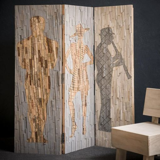 NIGHT MUSIC TIMBER WALL DIVIDER