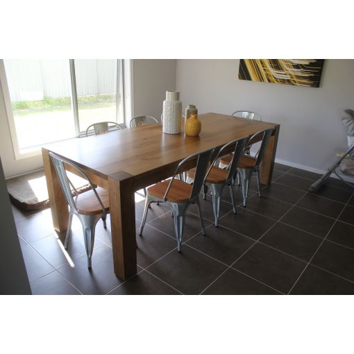 GAINELL DINING TABLE - SOLID TASSIE OAK HARDWOOD TIMBER
