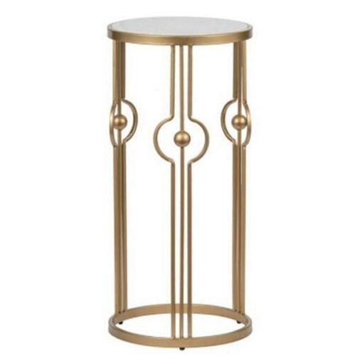 DIANNA MARBLE ART DECO SIDE TABLE/LAMP TABLE/BEDSIDE TABLE/ACCENT TABLE