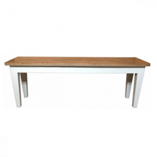 Oak Bench with White Legs – 175cm