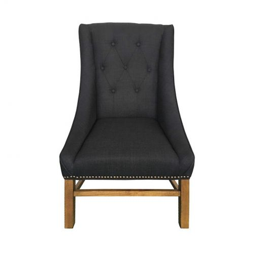 Blaxce Fabric Dining Chair, Charcoal