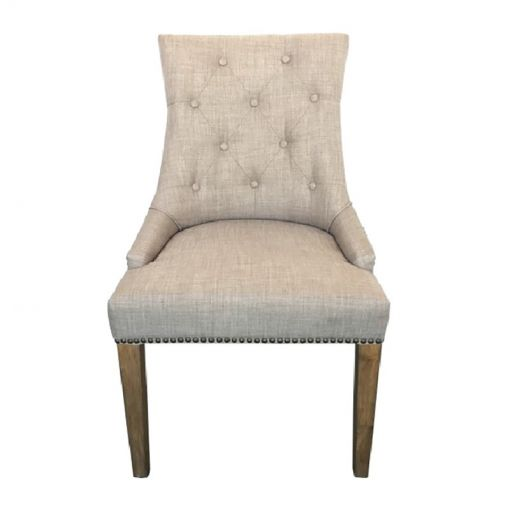 Morel Fabric Dining Chair, Beige