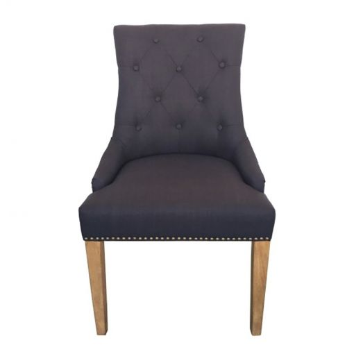 Morel Fabric Dining Chair, Black