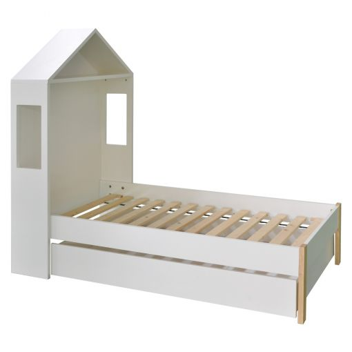 Honitone Arbor Bed with Trundle Storage Drawer, King Single