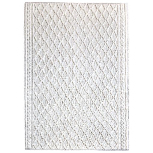 Evrit Hand Knitted Textured Wool Rug, 190x290cm