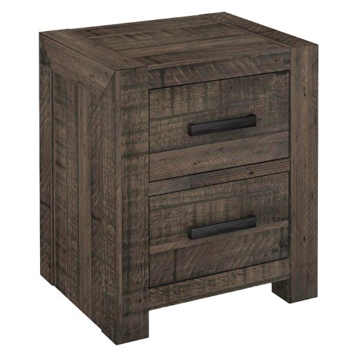 Alis Recycled Pine Timber Bedside Table