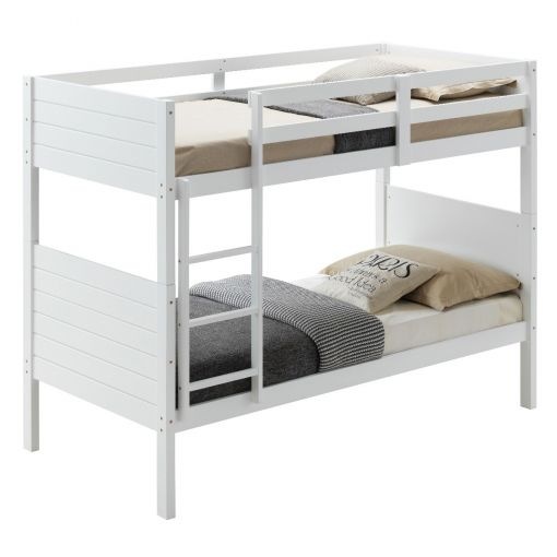 Walling Wooden Bunk Bed, Single, White