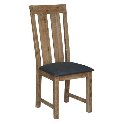 Ashti Solid Acacia Timber Dining Chair with PU Seat