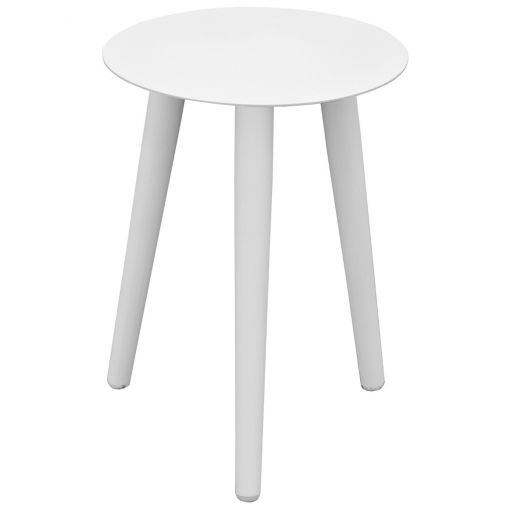 Wasley Aluminium Indoor / Outdoor Side Table, 42cm, White