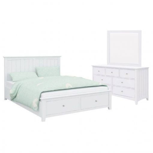 Kendal Acacia Timber Bed & Dresser Suite, King