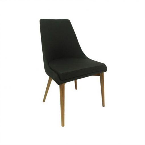 Archid Fabric Dining Chair - Black