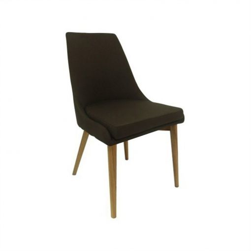 Archid Fabric Dining Chair - Brown