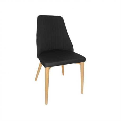 Henre Fabric Dining Chair - Black