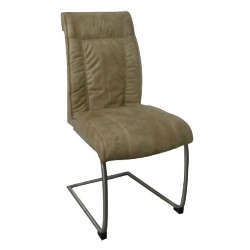Vanturi Fabric Upholstered Metal Dining Chair, Beige