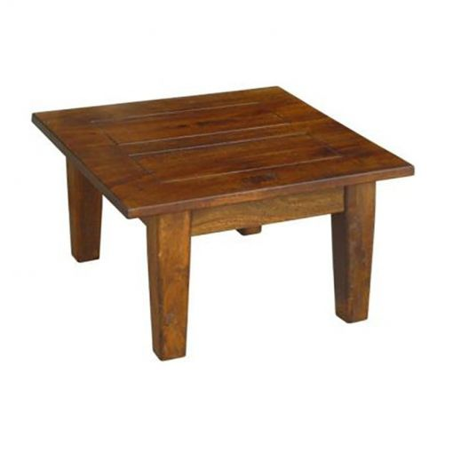 Harwinto Solid Mango Wood Timber Square Lamp Table