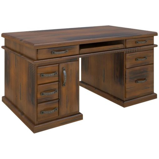 Molford Solid Pine Timber Exclusive Desk, 165cm