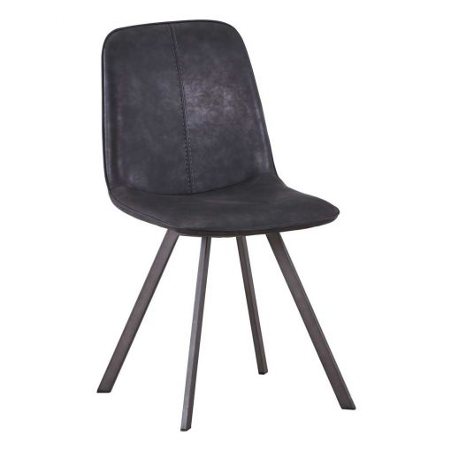 Warrington PU Leather Dining Chair, Charcoal