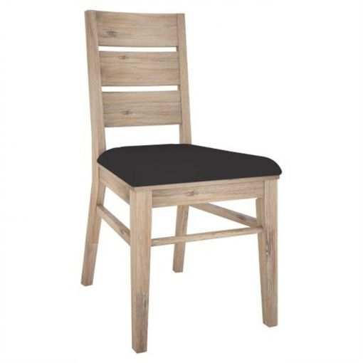 Lacadive Acacia Timber Dining Chair with PU Seat