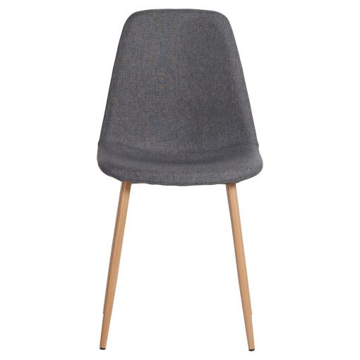 Zolfin Linen Fabric Dining Chair, Grey